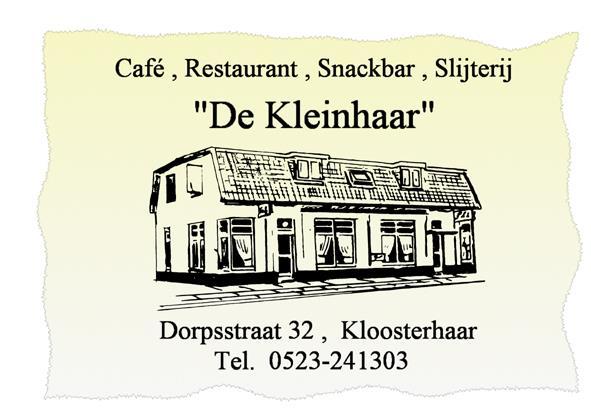 cafe de kleinhaar